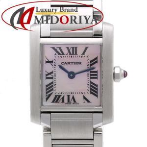 カルティエ Cartier タンクフランセーズ SM W51028Q3 ピンクシェル レディース /35107 【中古】 腕時計|phasemidoriya78