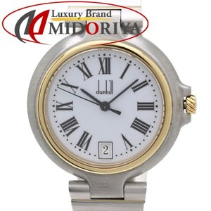 ダンヒル Dunhill ミレニアム デイト ユニセックス クォーツ /35124 【中古】 腕時計|phasemidoriya78