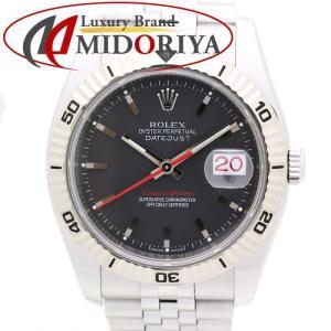 ロレックス ROLEX メンズ デイトジャスト ターノグラフ オートマチック 116264 回転ベゼル ブラック WG SS /35130 【中古】 腕時計|phasemidoriya78