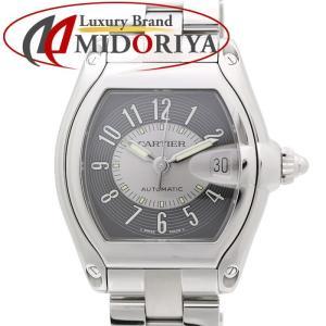 カルティエ Cartier ロードスター LM W62001V3 メンズ オートマ グレー文字盤 替えベルト付き /35142 【中古】 腕時計|phasemidoriya78