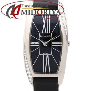 ティファニー Tiffany & Co. ジェメア ダイヤベゼル K18WG レザー Z6400.10.40F10A40E レディース /35155 【中古】 腕時計 phasemidoriya78