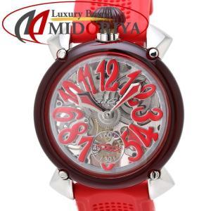ガガミラノ GAGA MILANO マヌアーレ 48mm ユニセックス メンズ 手巻き シリコンラバー クリスタル 6090.02 /35160 【中古】 腕時計|phasemidoriya78