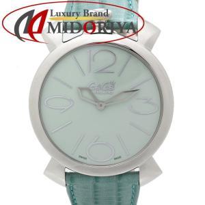 ガガミラノ GAGA MILANO マヌアーレ シン 46mm 5090.06 レザー ユニセックス レディース /35163 【未使用】 腕時計|phasemidoriya78