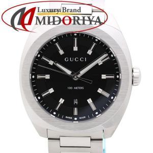 グッチ GUCCI GG2570 コレクション ラージ 41mm YA142301 ブラック 142.3 メンズ /35164 【中古】 腕時計|phasemidoriya78