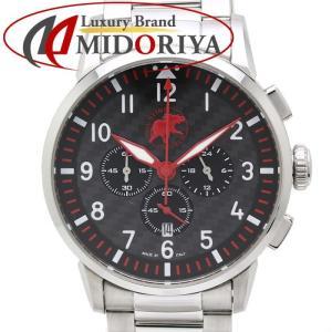 ハンティングワールド HUNTING WORLD カンガ ステンレス 黒文字盤 クロノグラフ メンズ /35166 【中古】 腕時計|phasemidoriya78