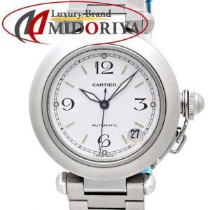 カルティエ CARTIER パシャC W31015M7 自動巻き ホワイト ユニセックス レディース /35228 【中古】 腕時計 ボーイズ|phasemidoriya78