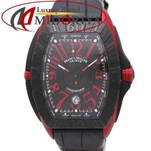 フランクミュラー FRANCK MULLER コンキスタドール グランプリ 8900SC DT GPG エルガ/チタン/革 メンズ /35239 【中古】 腕時計|phasemidoriya78
