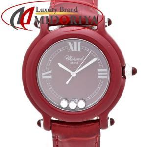 ショパール Chopard ビーハッピー KAL チェジュ 27/7779 レッド レディース /35293 【中古】 腕時計|phasemidoriya78