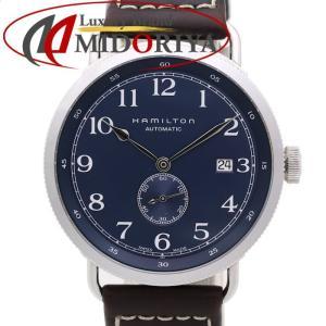 HAMILTON ハミルトン カーキ ネイビー パイオニア H78455543 自動巻き 革ベルト メンズ /35360 【中古】 腕時計 phasemidoriya78