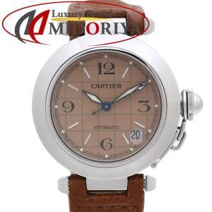 カルティエ Cartier パシャC W31024M7 スモールデイト ピンク オレンジ系 ボーイズ /35381 【中古】 腕時計 ユニセックス|phasemidoriya78