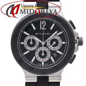 ブルガリ BVLGARI ディアゴノ セラミック クロノグラフ メンズ DG42BSCVDCH /35390 【中古】 腕時計 phasemidoriya78