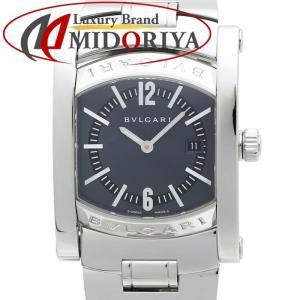 ブルガリ BVLGARI レディース アショーマ AA39C14SSD ブルーグレー ユニセックス /35408 【中古】 腕時計 ボーイズ|phasemidoriya78