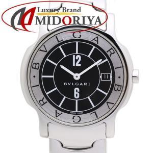 ブルガリ BVLGARI ソロテンポ ST35S 黒 クォーツ メンズ /35409 【中古】 腕時計 phasemidoriya78