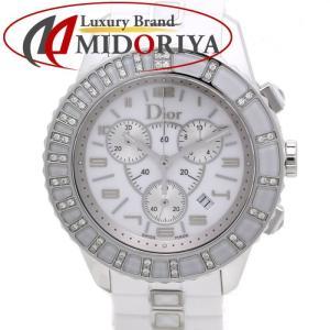 クリスチャン・ディオール Dior クリスタル クロノグラフ ダイヤモンド クォーツ メンズ CD114311 /35412 【中古】 腕時計 phasemidoriya78