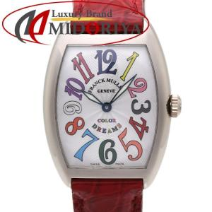 FRANCK MULLER フランクミュラー トノーカーベックス カラードリームス 7502QZ WG レディース /35433 【中古】 腕時計|phasemidoriya78