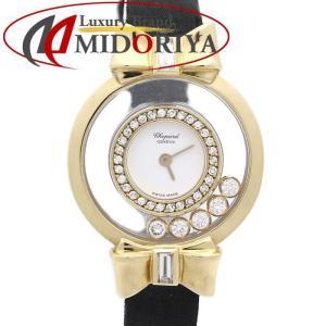 ショパール Chopard ハッピーダイヤモンド 18KYG無垢 リボン 20/5334 レディース /35441 【中古】 腕時計|phasemidoriya78