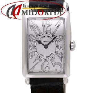 フランクミュラー ロングアイランド レリーフ レザー レディース FRANCK MULLER 902 QZ /35485 【中古】 腕時計|phasemidoriya78