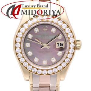 ロレックス ROLEX デイトジャスト パールマスター 80298NG 18K ダイヤモンド ブラックシェル レディース /35489 【中古】 【オーバーホール済】腕時計 phasemidoriya78