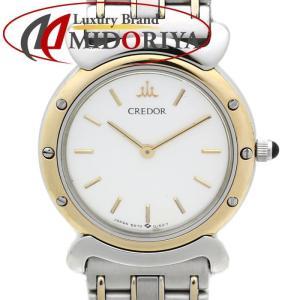 セイコー クレドール SEIKO CREDOR レディース 5A70-0040 シルバー YG/SSコンビ クォーツ /35500 【中古】 腕時計 phasemidoriya78