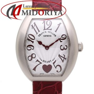 フランクミュラー FRANCK MULLER レディース ハートトゥハート 5002LQZC6H K18WG金無垢/ボルドーレザー /35536 【中古】腕時計|phasemidoriya78
