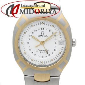 オメガ OMEGA シーマスター ポラリス GMT SS/YGコンビ メンズ クオーツ /35549 【中古】腕時計|phasemidoriya78