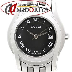 グッチ GUCCI ブラック文字盤 5500L SS レディース クォーツ /35559 【中古】腕時計|phasemidoriya78