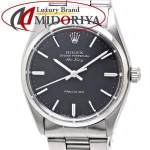 ロレックス ROLEX エアキング 5500 アンティーク メンズ ブラック文字盤 /35562 【中古】腕時計 ヴィンテージ|phasemidoriya78