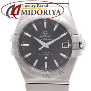 オメガ コンステレーション ブラッシュ メンズ OMEGA 123.10.35.20 グレー文字盤 自動巻き /35577 【中古】腕時計|phasemidoriya78