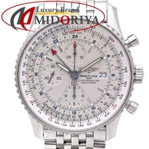ブライトリング ナビタイマー ワールド クロノグラフ GMT メンズ BREITLING A242G71NP /35583 【中古】腕時計|phasemidoriya78