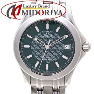 オメガ OMEGA シーマスター 120M ジャックマイヨール 限定 グリーン文字盤 2506.70 自動巻き メンズ /35584 【中古】腕時計|phasemidoriya78