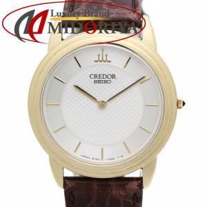 SEIKO セイコー CREDOR クレドール シグノ K18YG イエローゴールド メンズ クォーツ 8J80-7020 GBAT012 /35602 【中古】 腕時計|phasemidoriya78