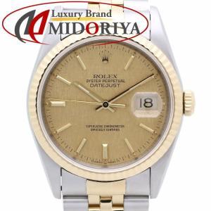 ロレックス ROLEX デイトジャスト 16233 YG/SSコンビ シャンパンゴールドモザイク文字盤 メンズ /35613 【中古】 腕時計 phasemidoriya78