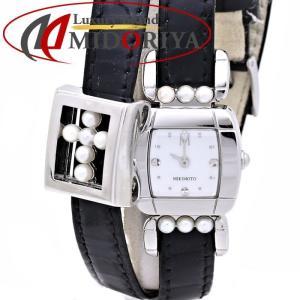 ミキモト MIKIMOTO ドレスウォッチ シェル エナメル パール /35624 【中古】 腕時計|phasemidoriya78