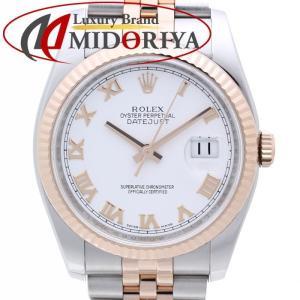 ロレックス ROLEX デイトジャスト 116231 PG/SSコンビ ホワイトローマン メンズ /35631 【中古】 腕時計 phasemidoriya78