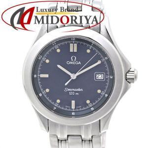 オメガ OMEGA シーマスター 120m メンズ クオーツ ネイビー文字盤 /35679 【中古】 腕時計|phasemidoriya78
