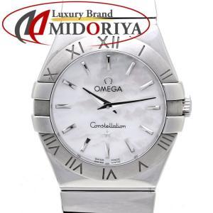 オメガ コンステレーション クォーツ 123.10.27.60.05.002 OMEGA ホワイトシェル レディース /35720 【中古】 腕時計|phasemidoriya78