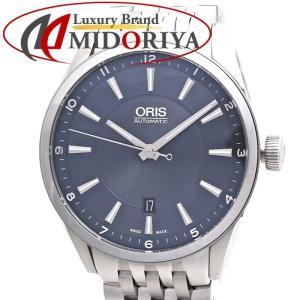オリス アーティックス デイト メンズ ORIS 733 7642 4035M ネイビー 自動巻き /35807 【未使用】 腕時計|phasemidoriya78