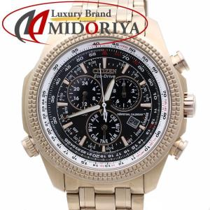 シチズン エコドライブ ソーラー クロノグラフ メンズ 逆輸入モデル CITIZEN BL5403-54E /35831【中古】 腕時計|phasemidoriya78