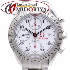 OMEGA オメガ スピードマスター デイト 323.10.40.40.04.001 オリンピック SS ホワイト文字盤 自動巻き メンズ /35846【中古】 腕時計|phasemidoriya78
