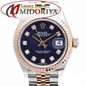 ロレックス ROLEX デイトジャスト 279171G オーベルジーヌ 10Pダイヤモンド パープル RG/SSコンビ レディース /35853【中古】 腕時計 PG phasemidoriya78