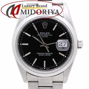 ロレックス ROLEX 15200 オイスター パーペチュアル デイト ブラック文字盤 K番 メンズ /35855【中古】 腕時計|phasemidoriya78