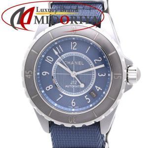 シャネル CHANEL J12 G.10 クロマティック 38mm メンズ H4338 チタンセラミック デイト ブルー 自動巻き /35978 【中古】 腕時計|phasemidoriya78