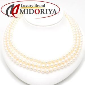 ミキモト ネックレス MIKIMOTO ロングパールネックレス 真珠5.9〜6.4ミリ K14WG 14金ホワイトゴールド/95256|phasemidoriya78