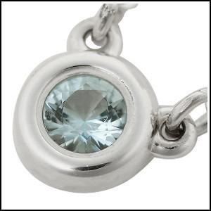 Tiffany&Co. ティファニー ネックレス バイザヤード アクアマリン0.06ct ペンダント 25224884