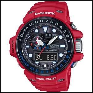 カシオ G-ショック ガルフマスター レスキューレッド ソーラー 電波 メンズ デジアナ 腕時計 GWN-1000RD-4AJF