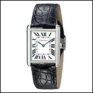 カルティエ タンクソロ アリゲーターレザー クオーツ 時計 メンズ 腕時計 W5200003