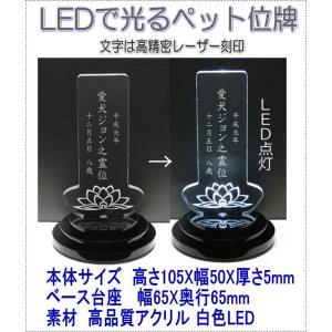 4600LEDできれいに光るペットアクリルミニLED位牌上四角蓮の花 黒台座|pheart