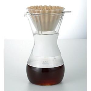 耐熱ガラス製のハンドドリップ用サーバーです。コーヒーグッズの老舗ブランドであるカリタのウェーブフィル...