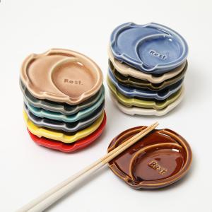 オシャレ 箸置き 可愛い スプーンレスト 豆皿 スプーン&箸置き  フリート 箸休め おてしょ 小皿 カラフル|phezzan