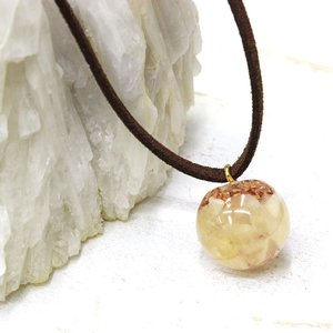 オルゴナイト ネックレス 型 金運 天然石 アラゴナイト|philan